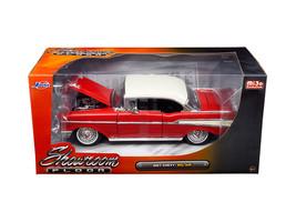 """1957 Chevrolet Bel Air Red \""""Showroom Floor\""""1/24 Diecast Model Car by Jada - $36.94"""