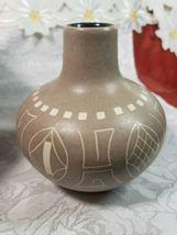 Ethnic Design Cream & Brown Pottery Vase  image 3