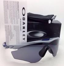 Neu Oakley M2-FRAME Schild-Sonnenbrillen OO9212-03 Fog-Grey Rahmen mit Grau