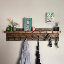Coat Rack with Shelf Choose your Length Towel Rack Entryway Organizer Wall Mount