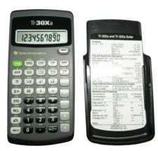 Texas Instruments TI‑30Xa Scientific Calculator Solar Power Hard Slip Co... - $6.80