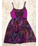 Hurley Pink Floral Spaghetti Strap Dress Size Small - $19.80