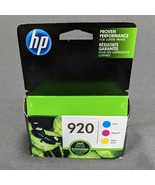 Genuine HP 920 Tri-Color Ink Cartridges N9H55FN Exp 11/2018 New Sealed - $12.55