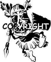 AFRICAN WARRIOR TRIBESMAN new mounted rubber stamp - $5.50