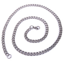 """Stainless Steel Polish Curb Chain Men Necklace 6mm 40"""" - $20.50"""