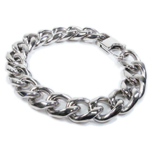 "Stainless Steel Round Curb Chain Men Bracelet 13mm 8"" - $14.99"