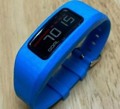 Garmin Vivofit Large Blue Fitness Excise Activity Calories Tracker Watch Hours - $28.49
