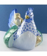 Herend Hen w/ Chicks Blue Green Yellow Fishnet SVHY2-15449-0-00 New $635 - $426.79