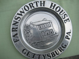 Collectible  8 inch Pewter Plate Farnsworth Hou... - $7.97
