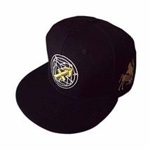 George Jimmy Black Hat Adjustable Golden Embroidered Hip-hop Hat Unisex ... - $25.84