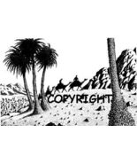 DESERT TRAVEL new mounted rubber stamp - $7.50