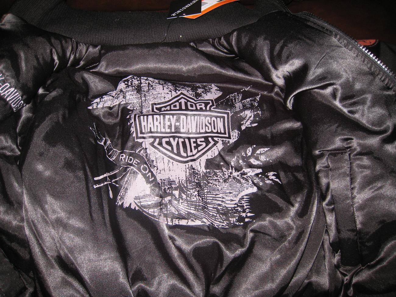 HARLEY DAVIDSON Black Reversible Jacket 4-7 5 6 NEW NwT