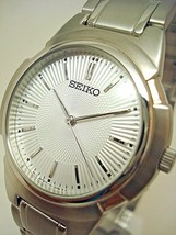 Seiko Men's Mid Size Watch Stainless Steel Band Silver Dial SFWS95P1 BRA... - $78.21