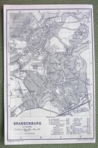 GERMANY Brandenburg City Plan - 1904 MAP ORIGINAL Baedeker - $3.72