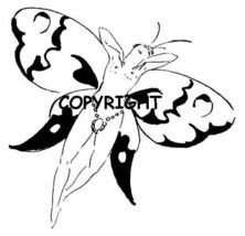 NUDE BUTTERFLY FAIRY BUG new mounted rubber stamp - $5.50