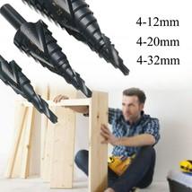 3Pcs 4-32mm 4-20mm 4-12mm HSS Hex Titanium Spiral Grooved Step Drill Bit... - $18.56