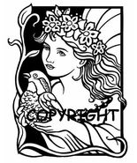 PEACE DOVE FAIRY FAIRIES GIRL new mounted rubber stamp - $7.55