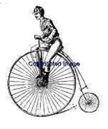 VINTAGE BIKER NEW mounted rubber stamp - $8.50