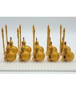 10pcs Spartan Warriors Roman Hoplites Soldiers Custom Minifigures Building Toys - $20.99