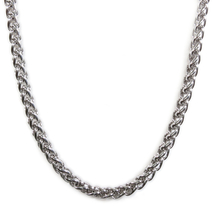 "Stainless Steel Wheat Chain Men Necklace 6mm 28"" - $18.00"