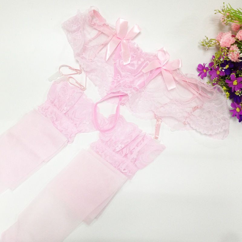 Women's Stockings, Lace High + Garter Belt Suspender Charm hosiery