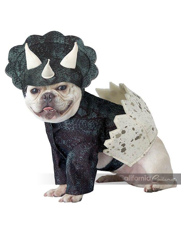 California Costumes Dino Pup Dinosaur Triceratops Halloween Costume Dog PET20159