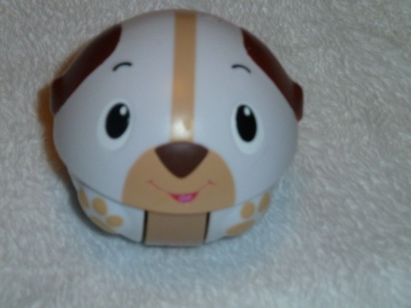 Bright Starts Giggables Having A Ball Wobble & Roll Brown White Dog Puppy Barks - $22.76