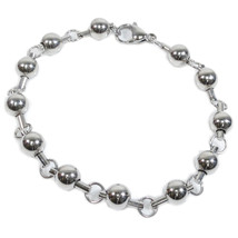 "Stainless Steel Bead Chain Men Bracelet 8mm 9"" - $9.50"