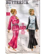 1960's TOP & PANTS Pattern 5517-b Size 12 - Complete - $9.99