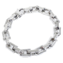 "Stainless Steel Polish Link Chain Men Bracelet 9mm 6.5"" - $12.60"