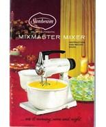 SUNBEAM MIXMASTER MIXER - 1957 Instruction & Re... - $12.00