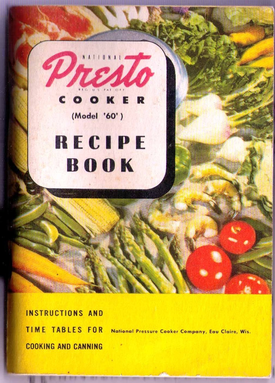 1946 Presto Model '60' Pressure Cooker Recipe Book SC