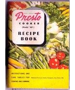 1946 Presto Model '60' Pressure Cooker Recipe Book SC - $10.99