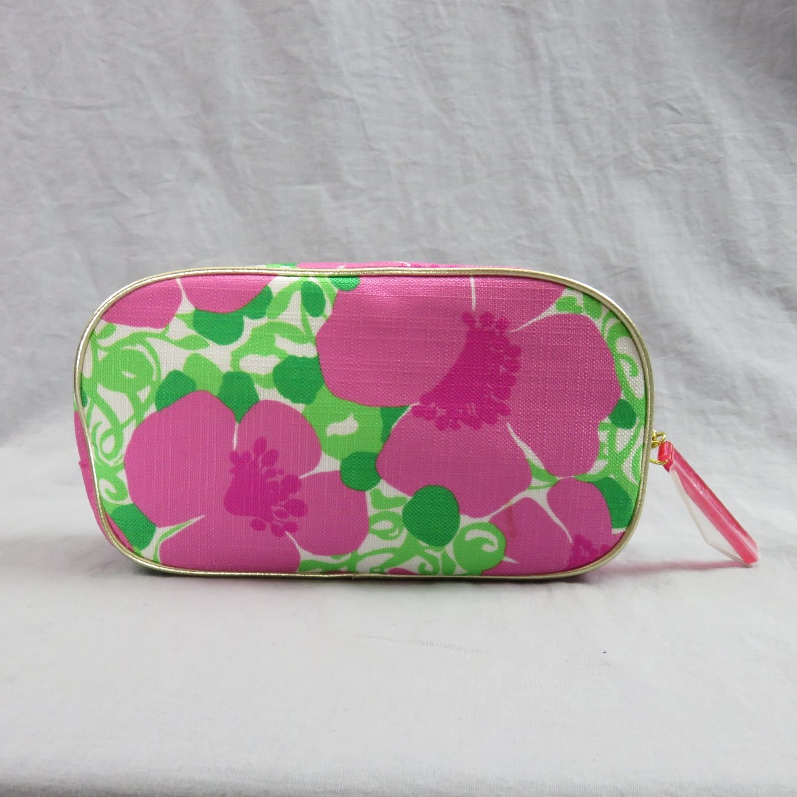 Lilly Pulitzer For Estee Lauder Pink Floral Makeup Bag Cosmetic Toiletry Holder