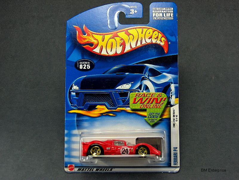 Hot Wheels Ferrari P4 #2002-025