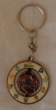 Corona Soccer Metal Enamel Keychain Vintage 9 Team Logos Split Rings Bee... - $7.49