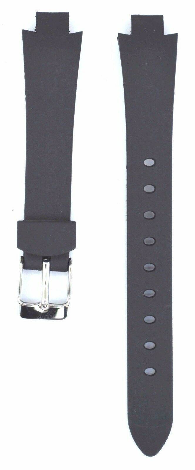 Compatible Lacoste 3510L Ladies 9mm Black Rubber Watch Strap LCS108