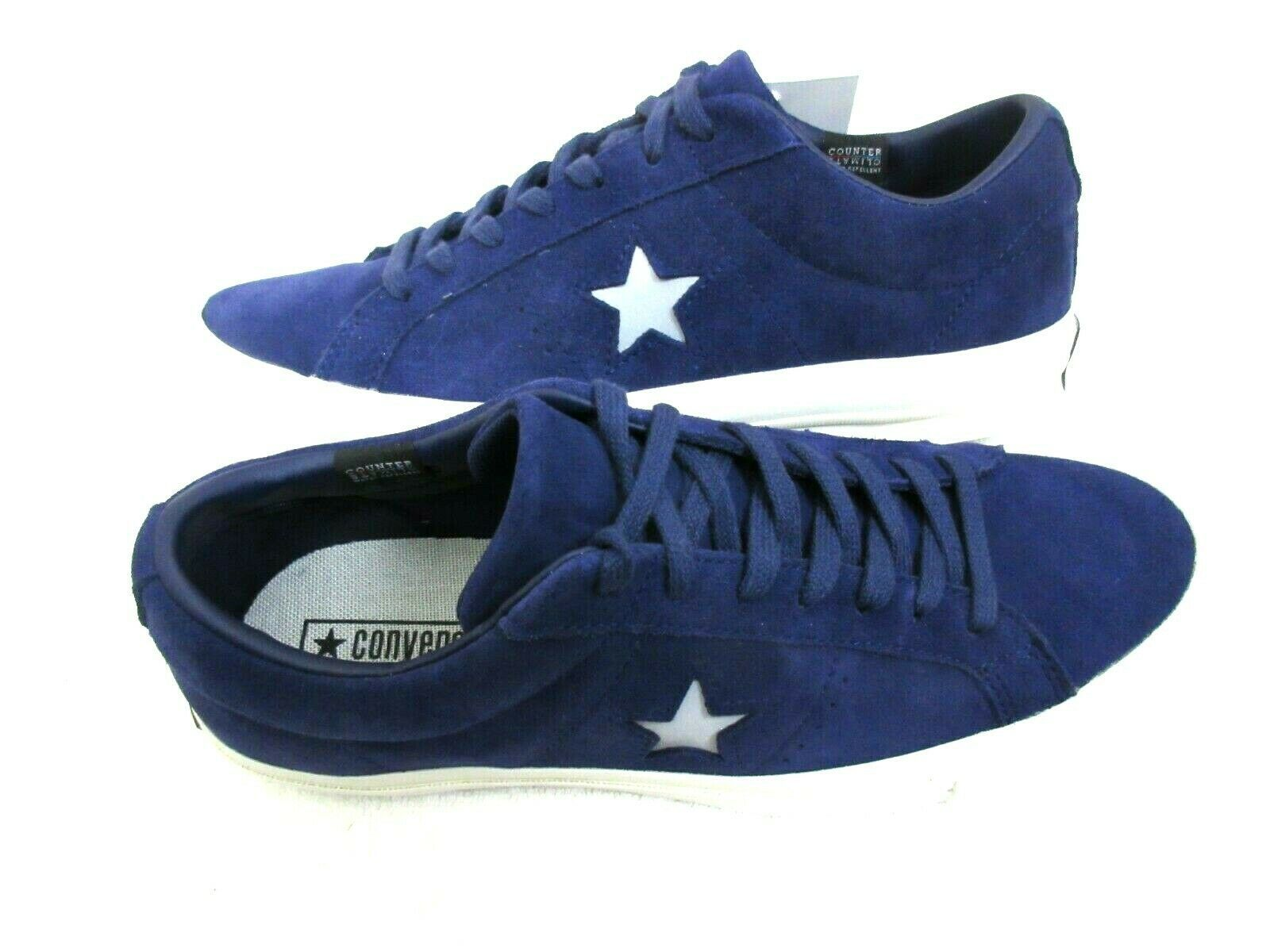 Converse One Star Ox Mens Midnight Indigo Purple Silver Suede Shoes Size 8 New