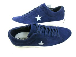 Converse One Star Ox Mens Midnight Indigo Purple Silver Suede Shoes Size... - $67.31