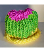Purple, Green, and Yellow Baby Hat - $9.00