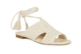 JOIE 'fai' Crocheted Ankle Tie Ivory sandals BoHo  38.5, 8 M New $298  - ₹2,737.32 INR