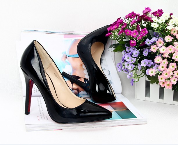 NWT Black Patent Leather Pumps Free Shipping