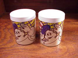 Lot of 2 Michelin Man Mugs Tire Advertising Thermo-Serv, Plastic, pair - $6.95