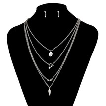 Baoyan 316L Stainless Steel Cute Long Gold Silver Color Chain Tassel Multi Layer - $21.92