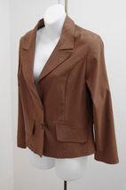 Mango  Sz M Blazer Brown Stretch Jacket Career Casual Womens Medium New - $19.59