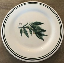 Williams-Sonoma Herbs Salad Plate BAY Leaf Made in Portugal - $8.86