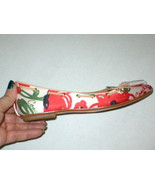 New Womens Authentic Coach Flats Satin Leather 5.5 6 Red Ivory Tassels S... - $75.20
