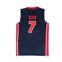 1992 Barcelona Larry Bird #7 USA Basketball Jerseys Double Stitched Navy - $35.00