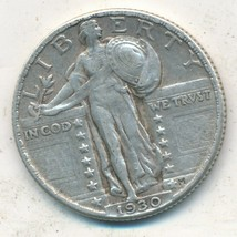 1930 STANDING LIBERTY SILVER QUARTER-VERY NICE CIRCULATED SILVER COIN-SH... - $27.95