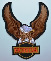 HONDA Eagle Motorcycles Cloth Iron On Patches  ... - $23.09